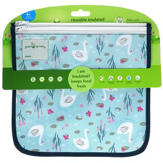 Green Sprouts, 可重用隔热保鲜袋,6 个月以上,Aqua Swan,2 包