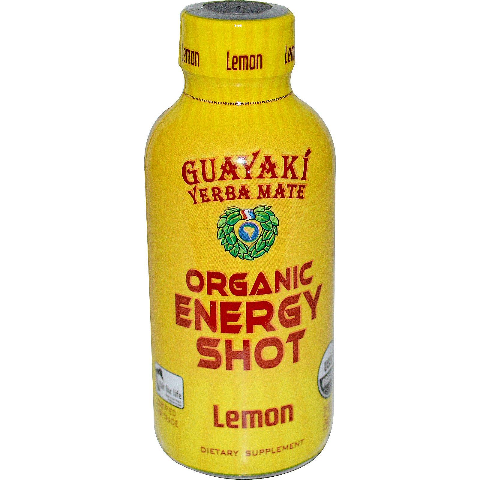 Guayaki, Yerba Mate, Organic Energy Shot, Lemon, 2 fl oz (59