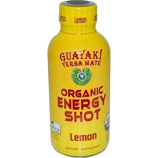 Guayaki, Yerba Mate, Organic Energy Shot, Lemon, 2 fl oz (59 ml)