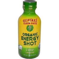 Guayaki, Yerba Mate, Organic Energy Shot, Lime Tangerine, 2 fl oz (59 ml)