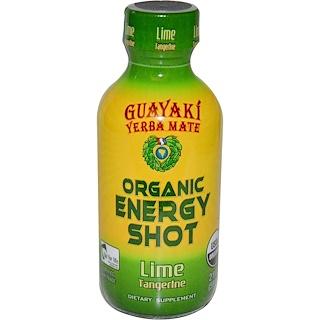 Guayaki, Yerba Mate, Organic Energy Shot, Lime Tangerine, 2 fl oz (59 ml)