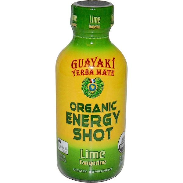 Guayaki, 馬黛茶,有機功能飲料,青檸柑橘味,2盎司(59毫升)
