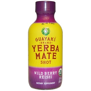 Guayaki, Yerba Mate Shot, Wild Berry Reishi, 2 fl oz (59 ml)