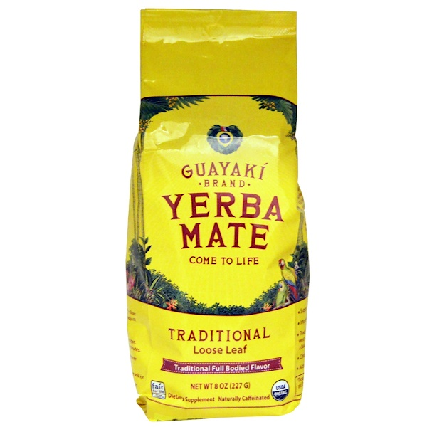 Guayaki, Yerba Mate, Loose Leaf Tea, Traditional, 8 oz (227 g) (Discontinued Item)