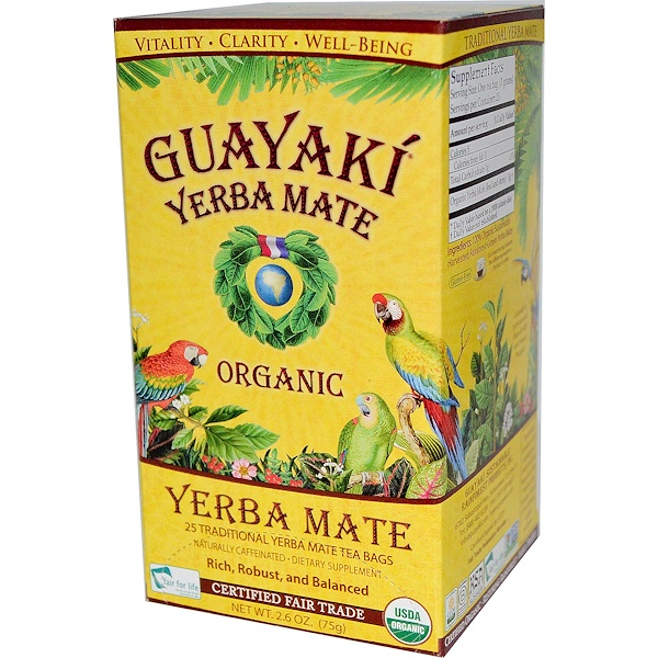 Guayaki, Organic Yerba Mate, 25 Tea Bags, 2.6 oz (75 g) (Discontinued Item)