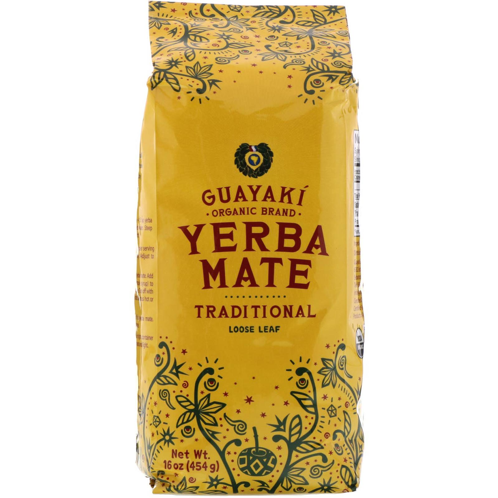 Guayaki, Yerba Mate, Loose Leaf Tea, Traditional, 16 oz (454 g)