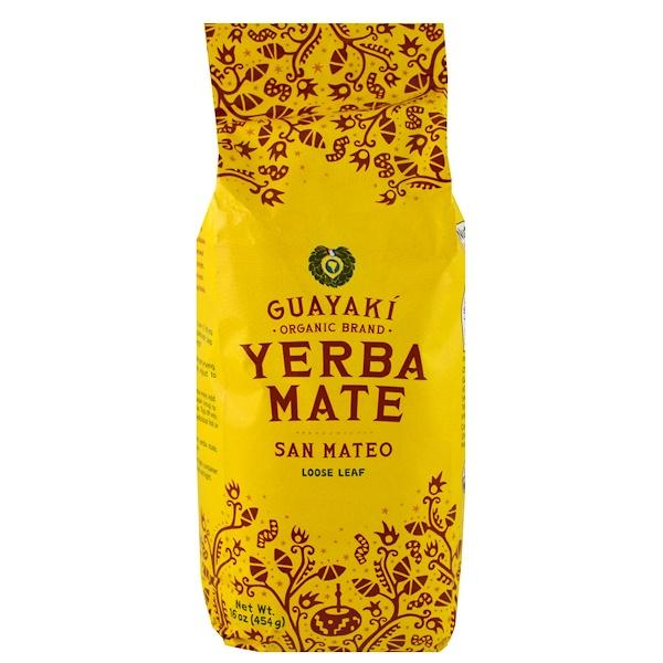 Guayaki, Йерба Мате, листовой чай, смесь Сан-Матео, 16 унций (454 г)