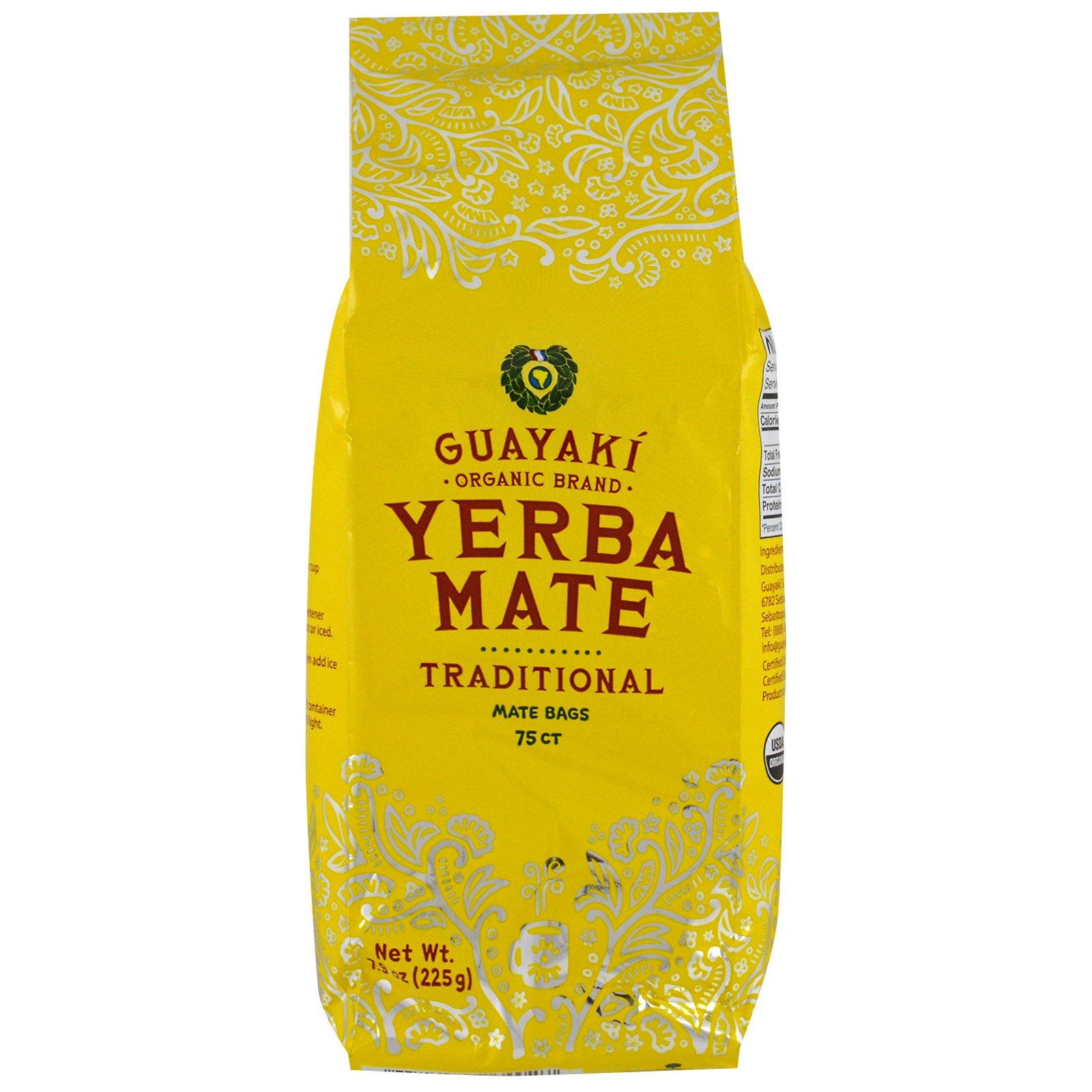 Guayaki, Традиционный, Мате, 75 чайных пакетов, 7.9 унции (225 г)