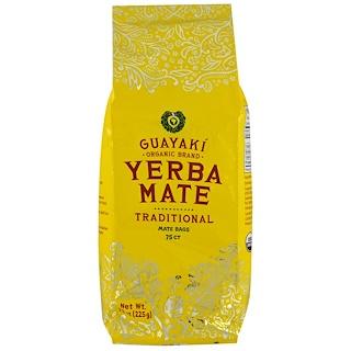 Guayaki, Yerba Mate, Tradicional. 75 bolsas de té, 205 g (7,9 oz)