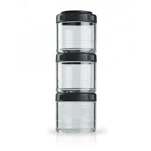 ГоуСтак, Portable Stackable Containers, Black, 3 Pack, 100 cc Each отзывы