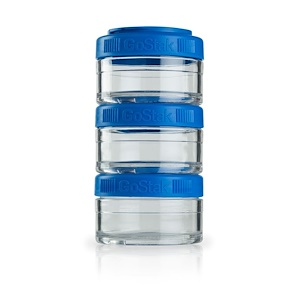 ГоуСтак, Portable Stackable Containers, Blue, 3 Pack, 60 cc Each отзывы