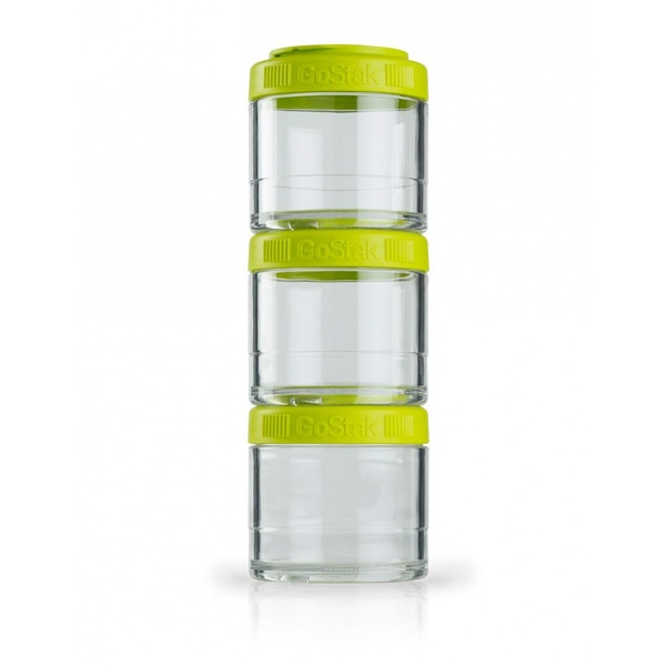 GoStak, Portable Stackable Containers, Green, 3 Pack, 100 cc Each (Discontinued Item)