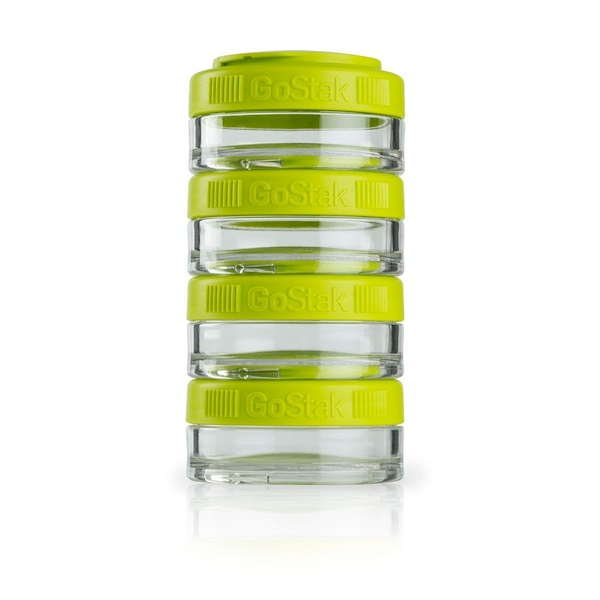 GoStak, Portable Stackable Containers, Green, 4 Pack, 40 cc Each (Discontinued Item)