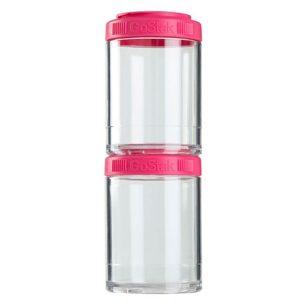 GoStak, Portable Stackable Containers, Pink, 2 Pack, 150 cc Each (Discontinued Item)