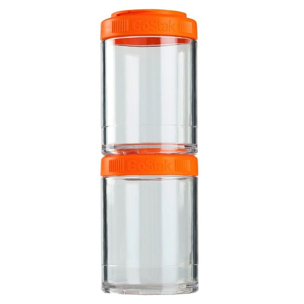 GoStak, Portable Stackable Containers, Orange, 2 Pack, 150 cc Each (Discontinued Item)