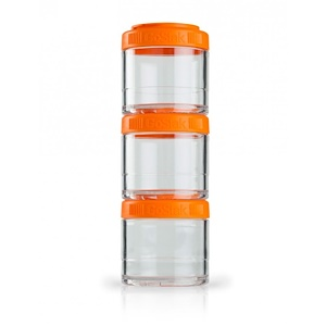 ГоуСтак, Portable Stackable Containers, Orange, 3 Pack, 100 cc Each отзывы