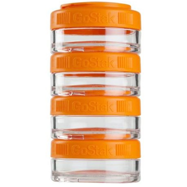 GoStak, Portable Stackable Containers, Orange, 4 Pack, 40 cc Each (Discontinued Item)