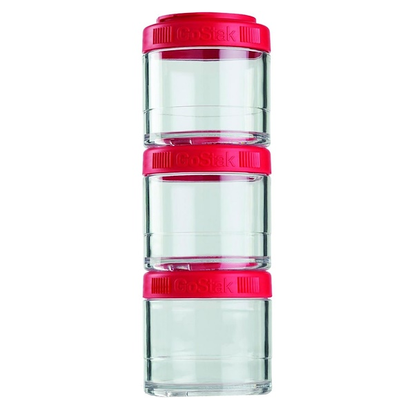 GoStak, Portable Stackable Containers, Red, 3 Pack, 100 cc Each (Discontinued Item)