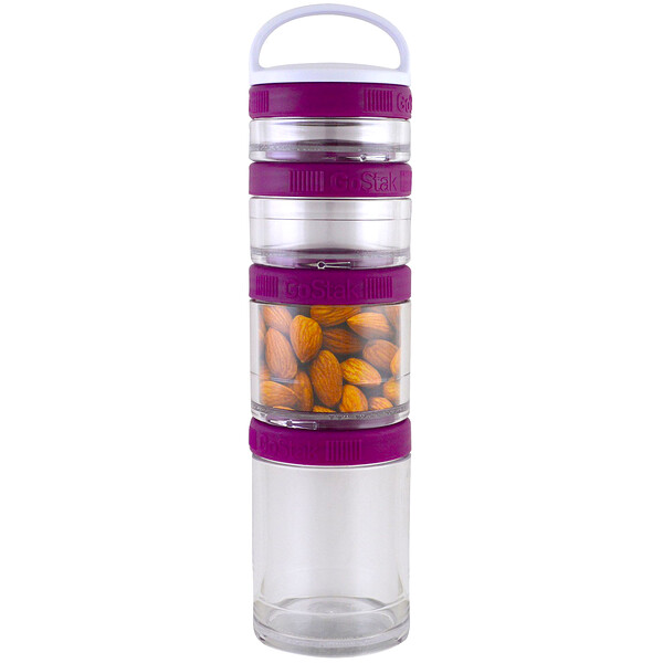 Portable Stackable Containers, Plum, Starter 4 Pack
