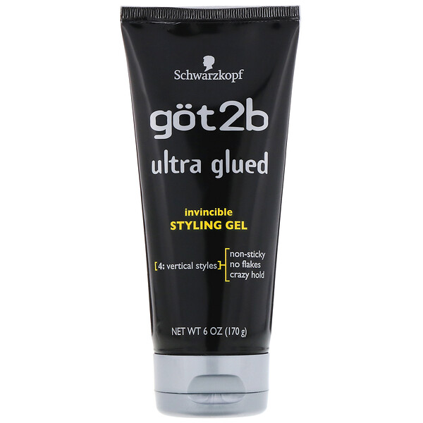 got2b, Ultra Glued Invincible Styling Gel, 6 oz (170 g) (Discontinued Item)