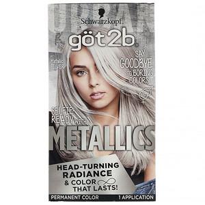 got2b, Metallics, Permanent Hair Color,  M71 Metallic Silver, 1 Application отзывы