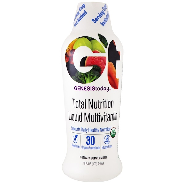 Genesis Today, Total Nutrition Daily Multivitamin, 32 fl oz (946 ml)