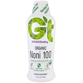 Genesis Today, Organic Noni 100, 32 fl oz (946 ml)
