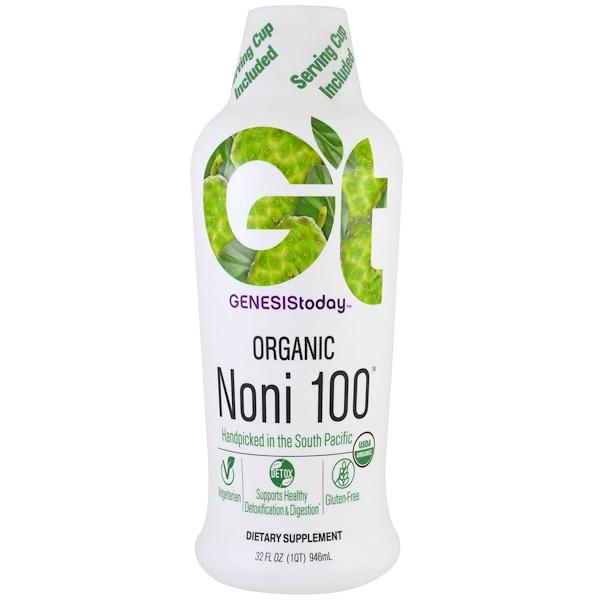 Genesis Today, Organic Noni 100, 32 fl oz (946 ml) (Discontinued Item)