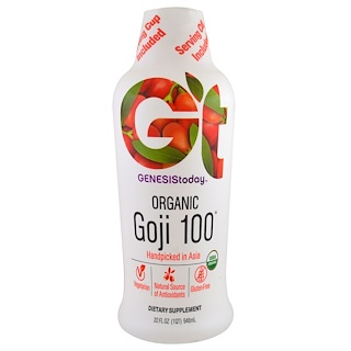 Genesis Today, Organic Goji 100, 32 fl oz (946 ml)