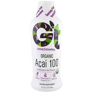 Genesis Today, Organic Açai 100, 32 fl oz (946 ml)