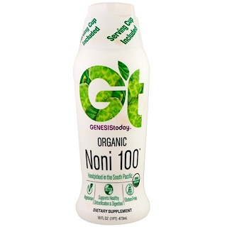 Genesis Today, Organic Noni 100, 16 fl oz (473 ml)