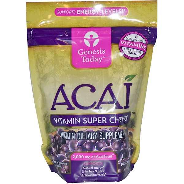 Genesis Today, Acai, Vitamin Super Chews, 30 Soft Chews (Discontinued Item)
