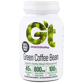 Genesis Today, Green Coffee Bean, 90 Veggie Caps