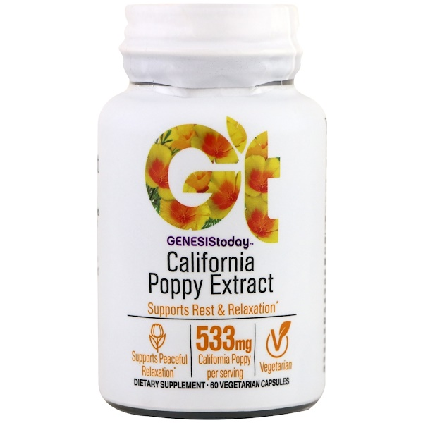 Genesis Today, California Poppy Extract, 60 Vegetarian Capsules (Discontinued Item)