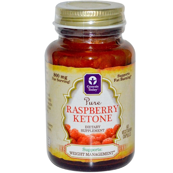 Genesis Today, Pure Raspberry Ketone, 60 Veggie Caps (Discontinued Item)