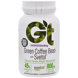 Genesis Today, Green Coffee Bean with Svetol, 90 Vegetarian Capsules