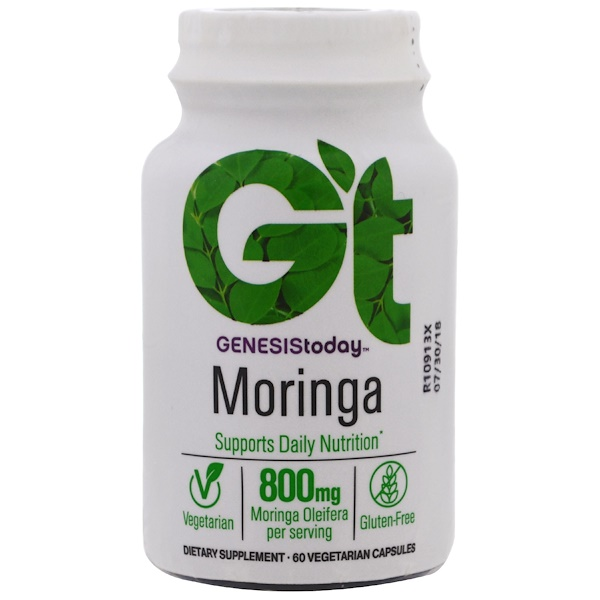 Genesis Today, Moringa, 800 mg, 60 Veggie Caps