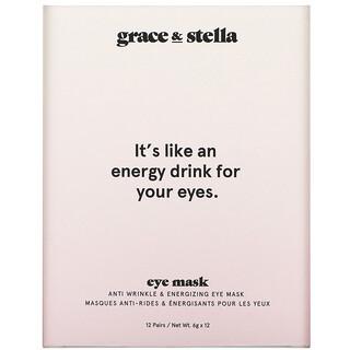 Grace & Stella, Anti Wrinkle + Energizing Eye Mask, 12 Pairs, 6 g  Each