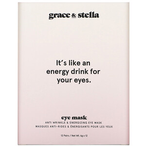Grace & Stella, Anti Wrinkle + Energizing Eye Mask, 12 Pairs, 6 g  Each отзывы