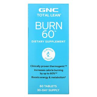 GNC, Total Lean, Burn 60, 60 Tablets