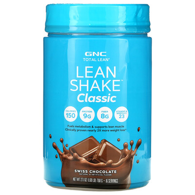 GNC Total Lean, Lean Shake Classic, Swiss Chocolate, 1.69 lb (768 g)