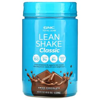 GNC, Total Lean, Lean Shake Classic, Swiss Chocolate, 1.69 lb (768 g)