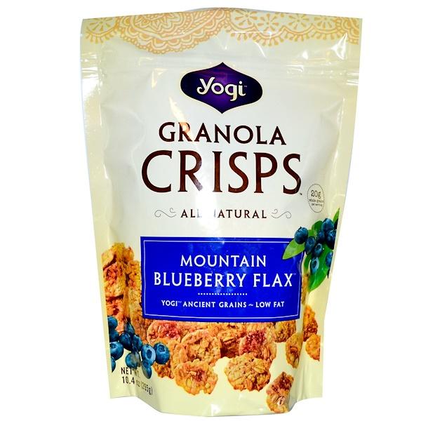 Peace Cereal, Yogi, Granola Crisps, Mountain Blueberry Flax, 10.4 oz (295 g) (Discontinued Item)