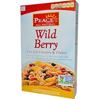 Peace Cereal, Low Fat Clusters & Flakes, Wild Berry, 10 oz (284 g)