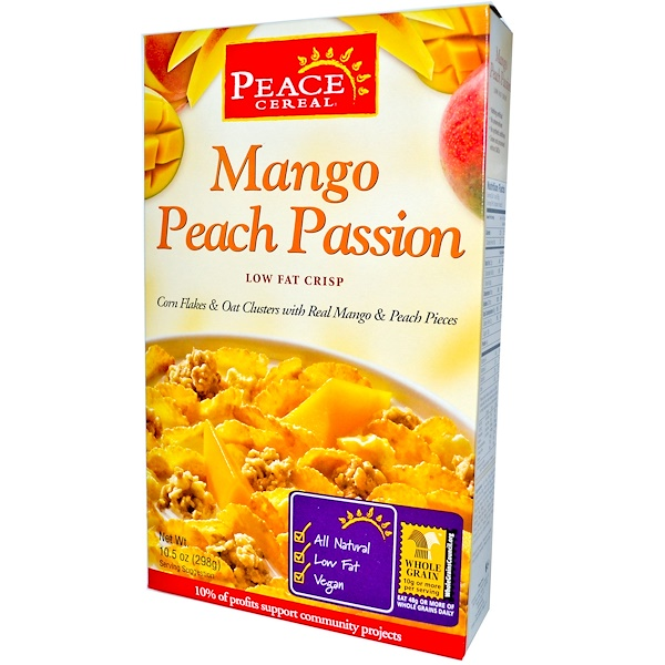 Peace Cereal, Peace Cereal, Mango Peach Passion, 10.5 oz (298 g) (Discontinued Item)