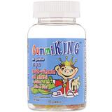 Отзывы о GummiKing, Мультивитаминно-минеральная добавка, с овощами, фруктами и волокнами, для детей, 60 тянучек