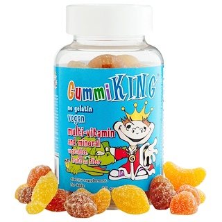 GummiKing, Multi-Vitamin and Mineral, Vegetables, Fruits and Fiber, For Kids, 60 Gummies