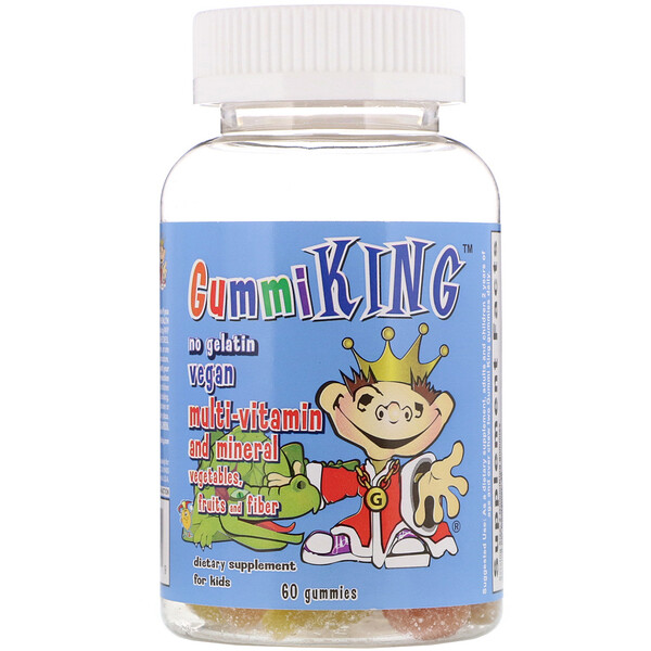 Multi-Vitamin and Mineral, Vegetables, Fruits and Fiber, For Kids, 60 Gummies