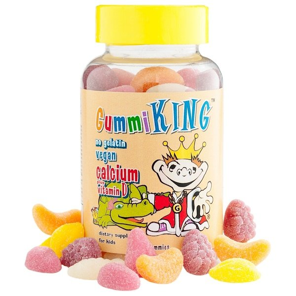 Gummi King, Calcium Plus Vitamin D for Kids, 60 Gummies