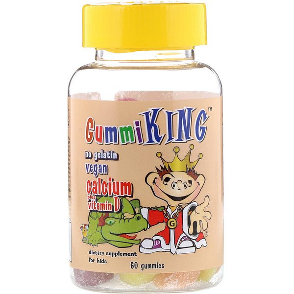 GummiKing, Calcium Plus Vitamin D for Kids, 60 Gummies
